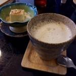 農民カフェ - 蜜豆腐に豆乳ラテでイソフラボーン!