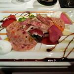 飛騨牛グリルばくろ - 3周年記念飛騨牛特選ディナーフルーコース お肉屋さん風ガーデンべジ―サラダ