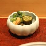 会席料理 岸由 - 香の物 (2014/10)