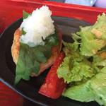 マメゾウアンドカフェ - 根菜とお豆腐のハンバーグ❤︎