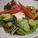 31488633 - たっぷり野菜と雑穀ご飯 ¥880(込¥950) 右下の瓜みたいのが ハヤト瓜