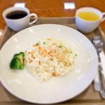 カフェテラス - 海老ピラフランチセット600円