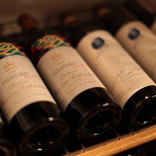フランスを中心としたワインリスト