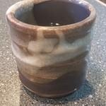 寿し茶屋海旬亭 - お茶の湯呑み