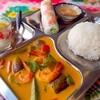 チャオエムカフェ - 料理写真:日替わりカレー ・ミニフォーセット 1000円。☆スパイスや野菜、ココナッツミルクが入ったベトナムカレーは、今や新定番!辛くなく、どんな方にも食べやすく毎日食べても飽きない♪日替わりでご提供しています!