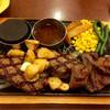 ビッグボーイ - 料理写真:大俵ハンバーグとステーキの超ガーリックな逸品