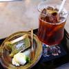 蔵のギャラリー喫茶結花 - 料理写真:シフォンケーキ、アイスコーヒー