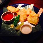 北あほぼん寺 - 旬の魚の天ぷら。