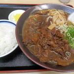 中華そば 奥屋 - ご飯小¥162+肉大