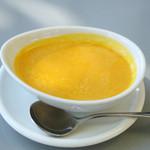 La・Terrazza - ランチのかぼちゃの冷製スープ¥300温めてもらいました。