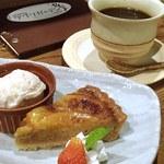 アグリガーデン - 料理写真:ケーキセット(オレンジタルト)