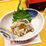 うまい鮨勘 - かき酢(¥837)。見た目以上にかきたっぷり。食べ応えのある一品料理