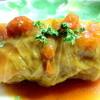 味の蔵吉岡 - 料理写真:秋鮭のロールキャベツとまと煮