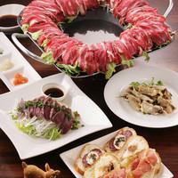 エゾ鹿肉と野菜しゃぶしゃぶ (要予約 二名様より)