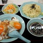 重松飯店 - 料理写真:夏季限定のざるラーメンセット