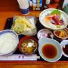 天繁 - 料理写真:刺身付き天ぷら定食