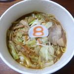 8番らーめん - 料理写真:ドライブスルーにてお持ち帰り野菜らーめん味噌(615円)
