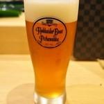 金太郎寿し - ドリンク写真:千歳の地ビール「ピリカワッカ」の生ビールが呑める