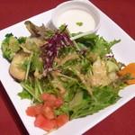 ル・タン・メルヴェイユ - サラダとカボチャの冷製スープ