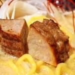札幌 炎神 - 炎の味噌チャーシューラーメン2012(豚ロース角切りチャーシュー)