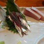 宝山 いわし料理 大松 - お得セットのいわしの刺身