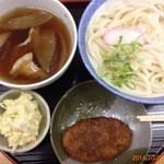 行田ゼリーフライ本舗 たかお - 肉汁もりうどん550円