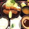 さんき - 料理写真:特上ロースと大エビ定食