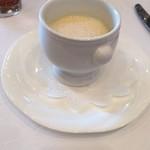 31984665 - サツマイモのクリームスープ シナモンカプチーノ