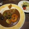 ミスティー オーパース - 料理写真:2014/10 海老と帆立貝柱、野菜のカレー