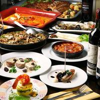 コース料理伝統的な本格スペイン料理のコース