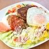 蔵前四丁目カフェ - 料理写真:タコモコ♪タコライスと本格ハンバーグの豪華盛り合わせ♪