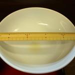 武蔵村山 大勝軒 - 丼は 径245mmぐらい、いわゆる 8寸丼です。