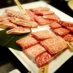 和牛専門店いな蔵のカルビ - 別の日の和牛盛り合わせ「竹」