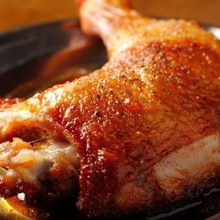 宮崎県銘柄鶏・日向どりの『骨付きがぶり焼き』