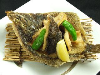 北の魚づくし - カレイの唐揚げ