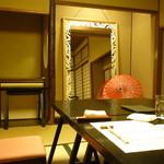 桜鶴苑 - 個室は花嫁さんの控室にもなるそうです