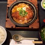 かつふじ - ロースカツ鍋定食