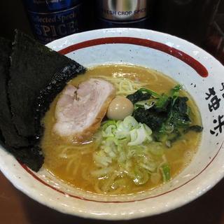 ラーメン独歩 - 料理写真:ラーメン並600円 麺硬め・味濃いめ・脂普通で注文