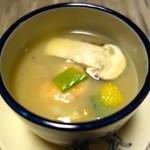 松濤館 - 【夕食】玉地蒸し 蓮根摺り流し 、松茸、海老、百合根、生海胆、青味柚子