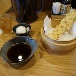 天ぷら海鮮 五福 - 単品ちくわ¥100(税別)