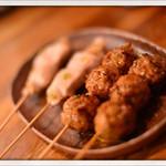 燻製と地ビール 和知 - おまかせ串焼10本 2014.11