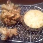 創作天ぷら いち - かき揚げ・茄・舞茸