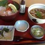 サガミ - 本ずわい蟹の北海丼と麺