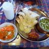 シムラン キッチン - 料理写真:チーズナンセット(ほうれん草とジャガイモのカレー)