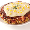 どんぐり - 料理写真:お好み焼イタリアン(ウインナー・いか)