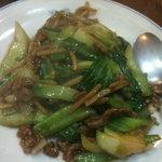 中国料理 鳳蘭 - 豚肉と青梗菜の炒め物