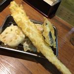 天ぷらの山 - アナゴ定食 アナゴ大き〜いヾ(*´▽`*)ノ