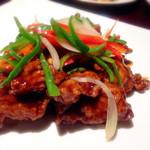 32312541 - 若鶏の黒酢ソース炒め