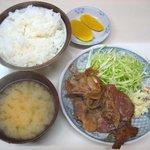 軽食カーム - 手作りのタレ、豚肩ロースの「生姜焼き定食」650円