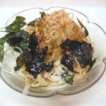 軽食カーム - 梅の風味が爽やかなボリューム大の「大根サラダ」100円